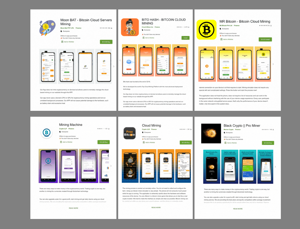 Over 2 dozen scam Android apps on Google Play Store are cheating cryptocurrency investors by charging them for a mining service that does not even exist