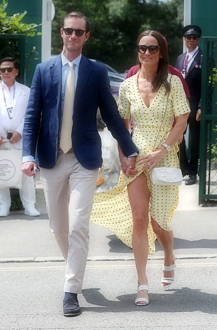 Pippa Middleton narrowly avoids a wardrobe failure