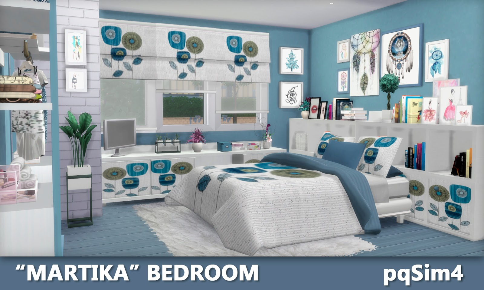 Sims 4 cc 39 s the best martika bedroom by pqsim4 for Four bedroom
