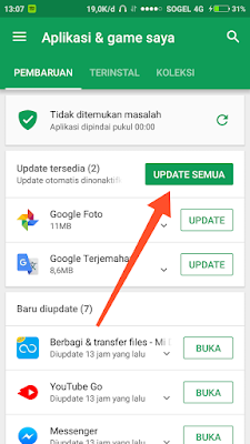 Update Aplikasi Play Store