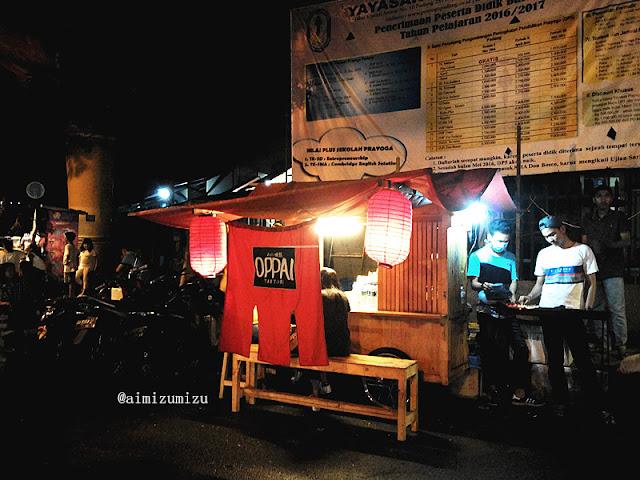 menjual makanan jepang yakitori