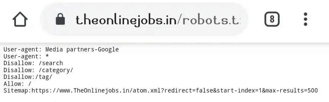 TheOnlinejobs robot txt