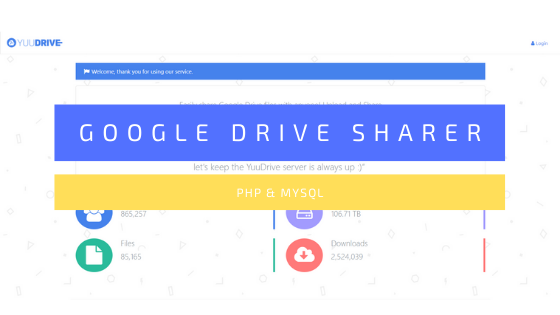 Source Code Google Drive Sharer (YuuDrive / AceFile)