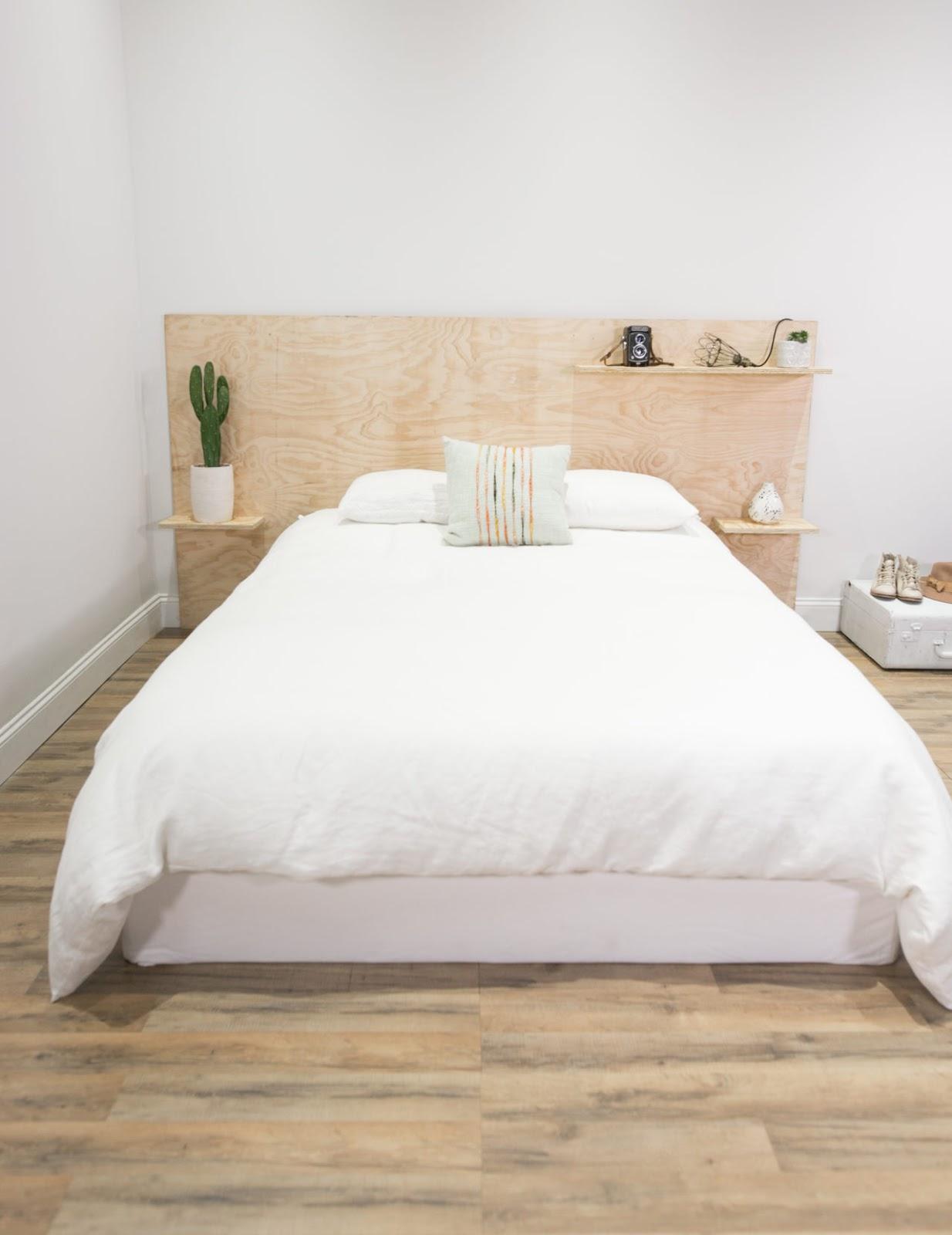 8 Plywood Headboard + Bed DIY Ideas | Poppytalk
