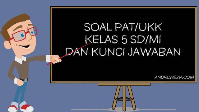 Soal PAT/UKK Kelas 5 Tahun 2021 dan Jawaban