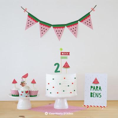 festa melancia kit decoração