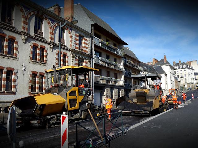 Les travaux de voirie Rue Gambetta à Rennes (24 Février 2021)