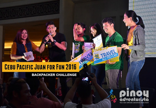 Cebu Pacific Juan for Fun 2016 Backpackers Challenge