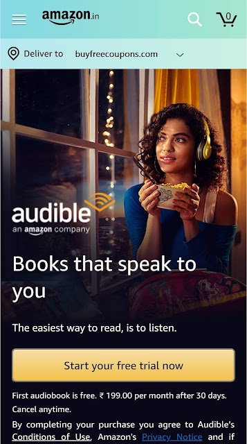 amazon audible free subscription