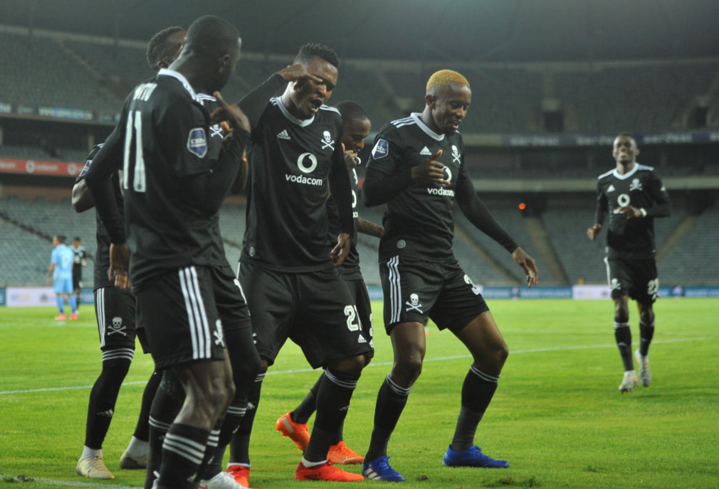 Orlando Pirates players celebrating