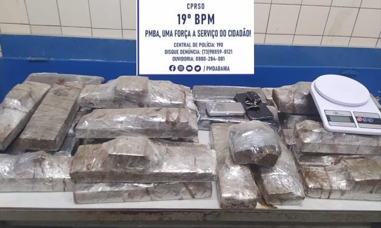 Polícia apreende 27 tabletes de maconha no Sudoeste da Bahia