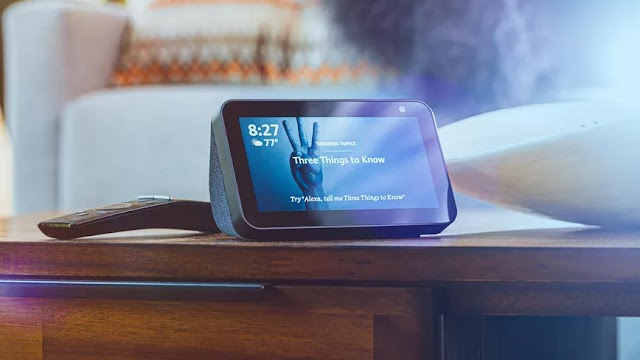 AMAZON ECHO SHOW 5 The best intelligent alarm clock that you can get