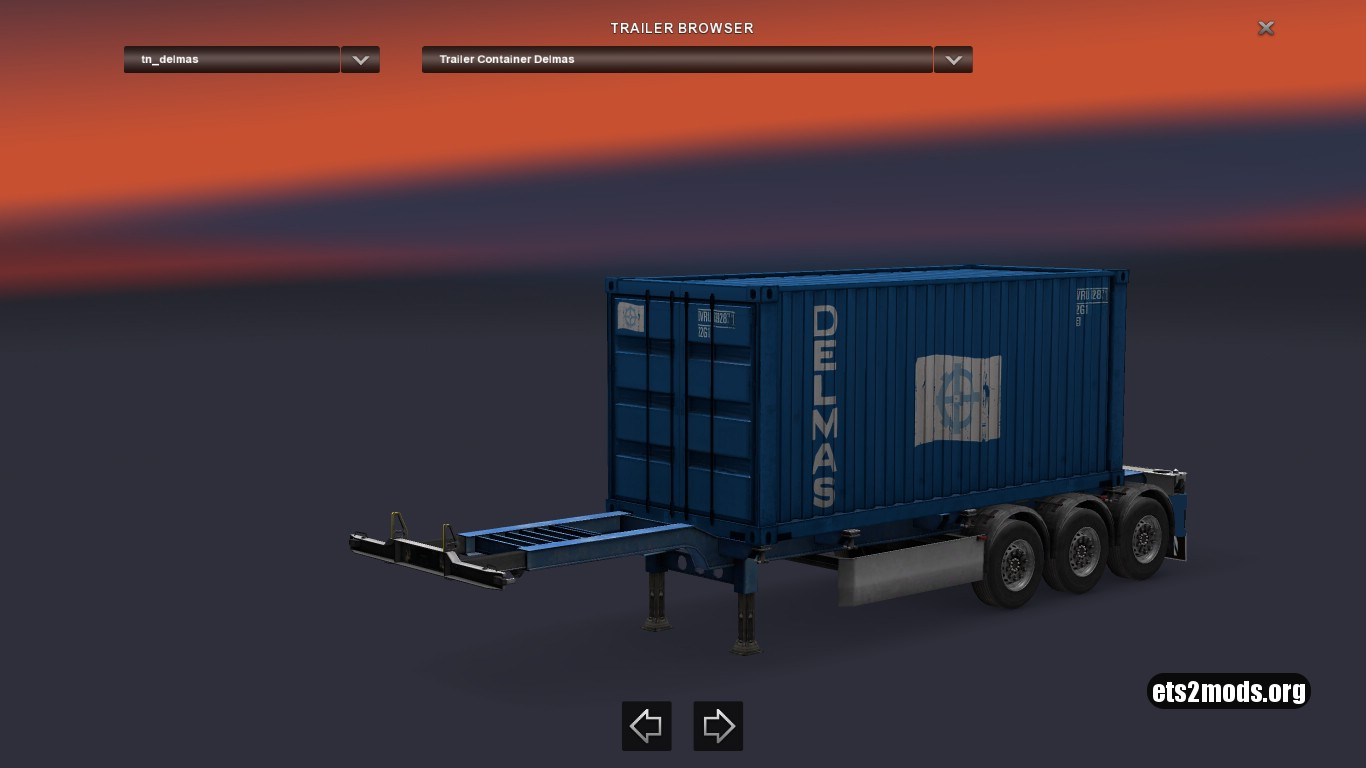 Container Delmas Trailer
