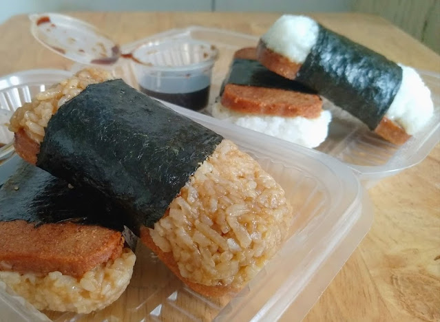 vegan SPAM musubi