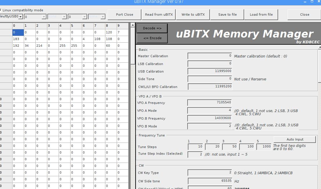Running uBITX Manager on Linux (Raspberry pi)
