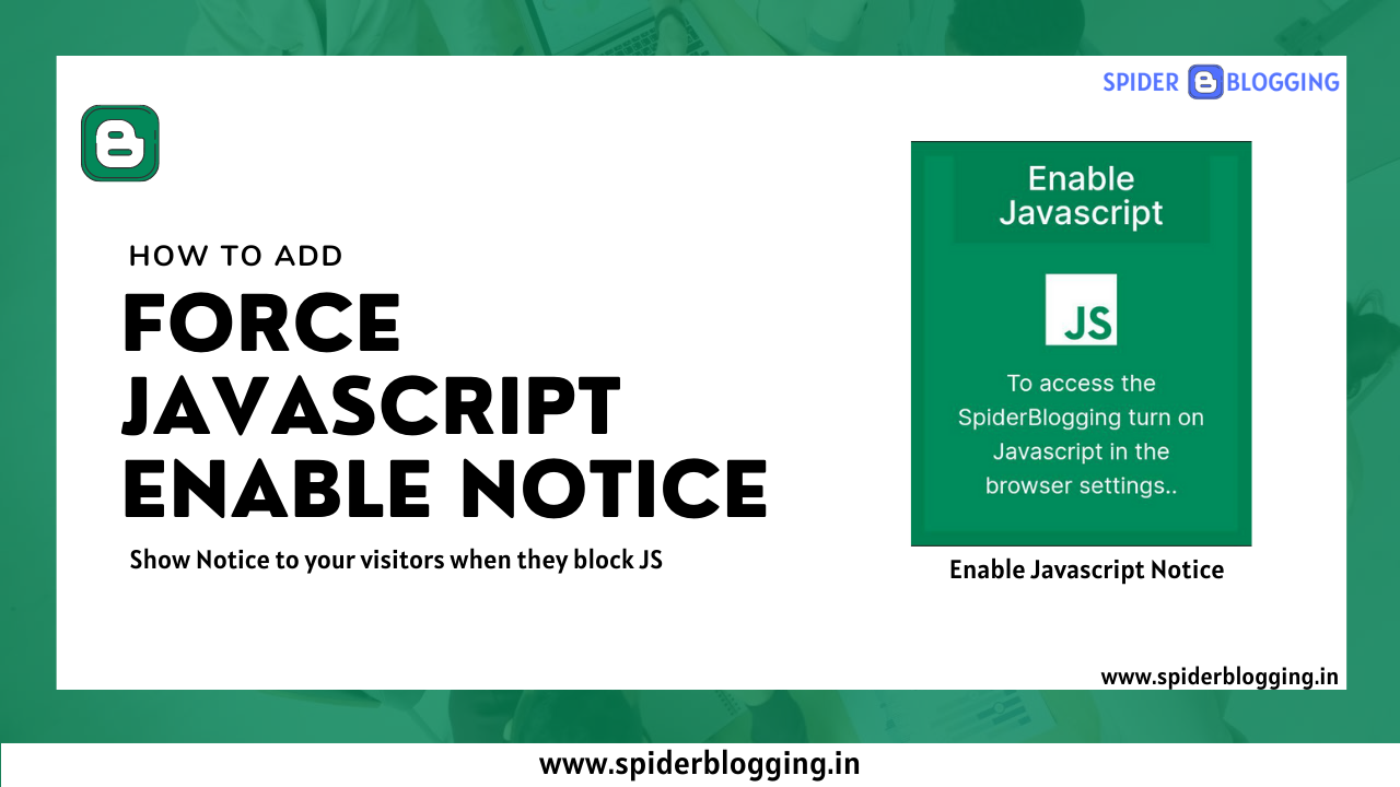 How to Force users to enable JavaScript in Browser | SpiderBlogging