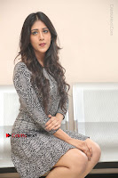 Actress Chandini Chowdary Pos in Short Dress at Howrah Bridge Movie Press Meet  0150.JPG