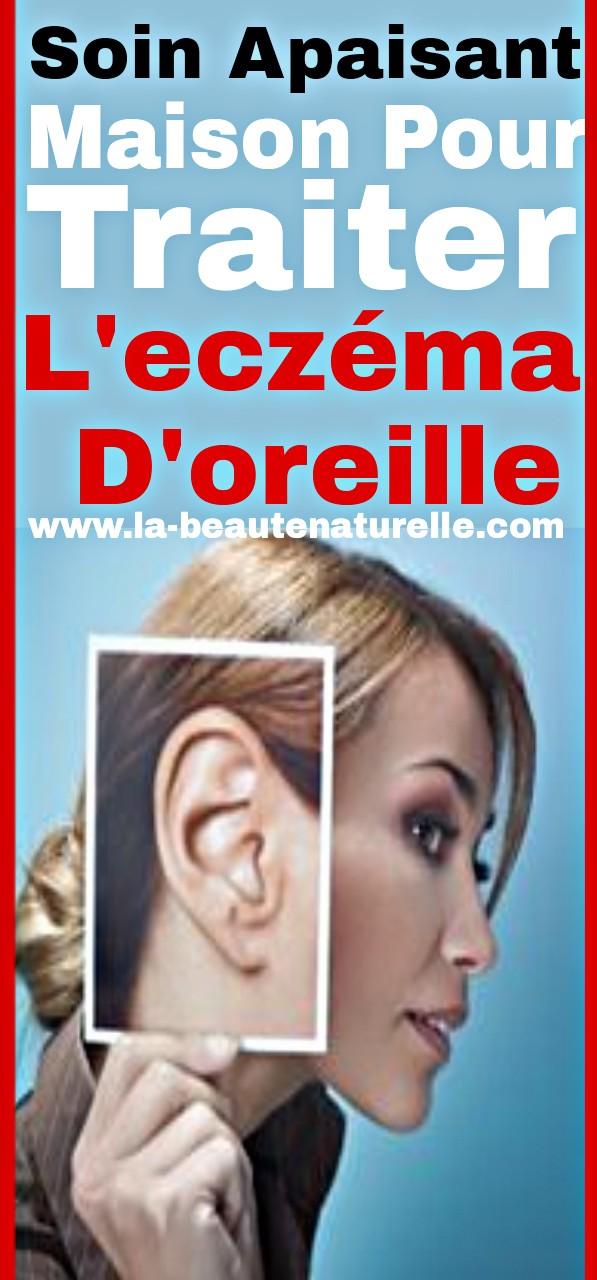 Soin apaisant maison pour traiter l'eczéma d'oreille