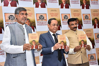 "Justice Ranjan Gogoi launches Nobel Peace Laureate Kailash Satyarthi's book, ""Every Child Matters"""