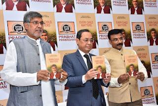 "Justice Ranjan Gogoi launches Nobel Peace Laureate Kailash Satyarthi's book, ""Every Child Matters"""