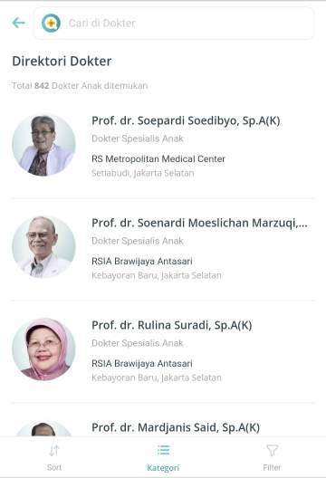 Cari dokter sehatq.com