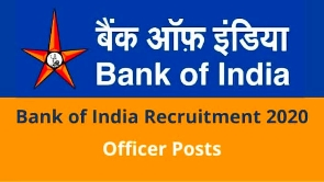 Bank of India (BOI) Recruitment 2020 Apply Online