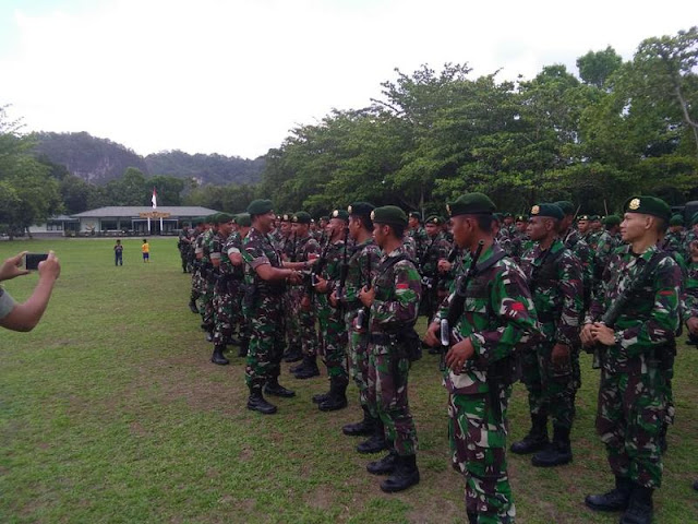 Danyonif Para Raider 433 Kostrad Sambut Kedatangan 212 Prajurit Satgas Gulbencal