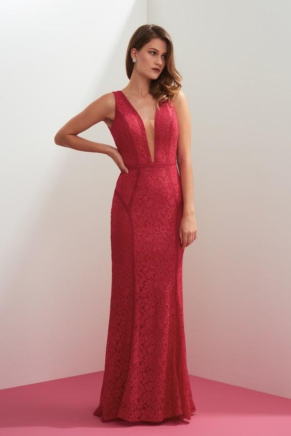 vestido longo pink rendado