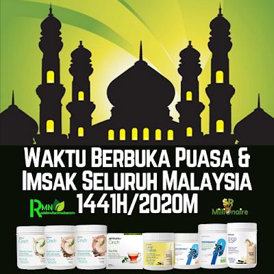 JADUAL WAKTU BERBUKA PUASA DAN IMSAK SELURUH MALAYSIA 1441H