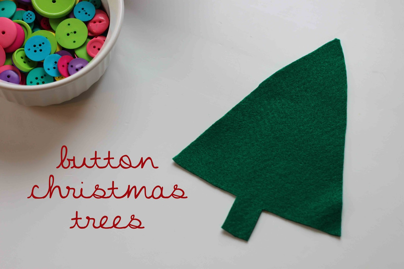 Playing House: Button Christmas Trees
