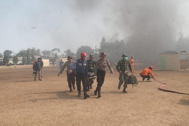 Jajaran Divisi Infanteri 1 Kostrad Gelar Latihan Penanggulangan Bencana Alam