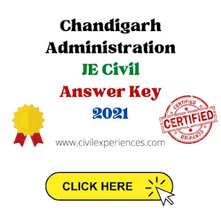 Chandigarh JE Answer Key Junior Engineer(Civil) | Chandigarh Administration JE Answer Key 2021