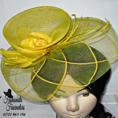 Buy yellow party fascinator hats Nairobi Kenya