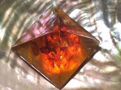 An Amber Pyramid of Light by Maja Trochimczyk