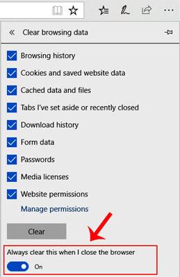 Edge-browser-history-auto-delete-kaise-kare