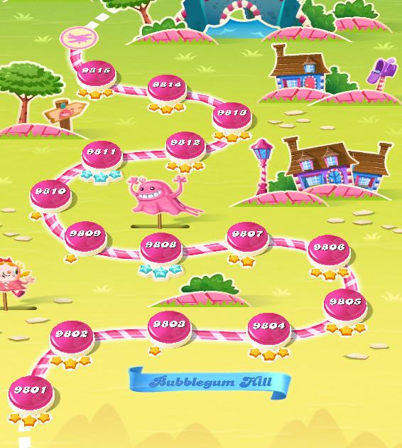 Candy Crush Saga level 9801-9815