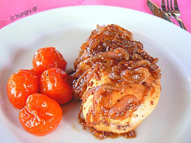 Φιλέτο Κοτόπουλου με Σάλτσα Μπύρας-Μελιού