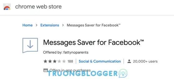 Cách khôi phục tin nhắn Messenger Facebook đã xóa