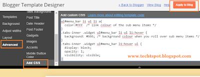 Create Menu Tabs In Blogger Blog 5