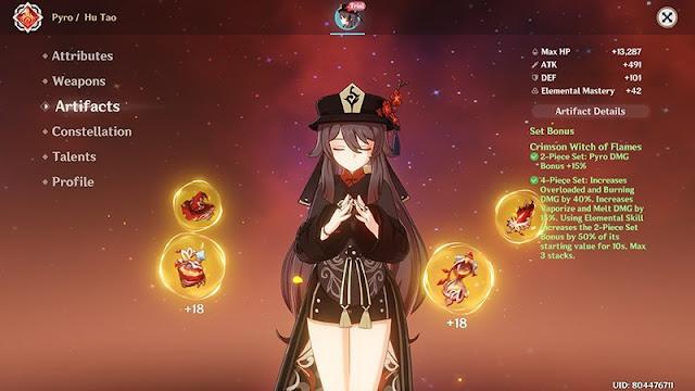 Best Build for Hu Tao in Genshin Impact, Lineup, Artifact, and Weapon