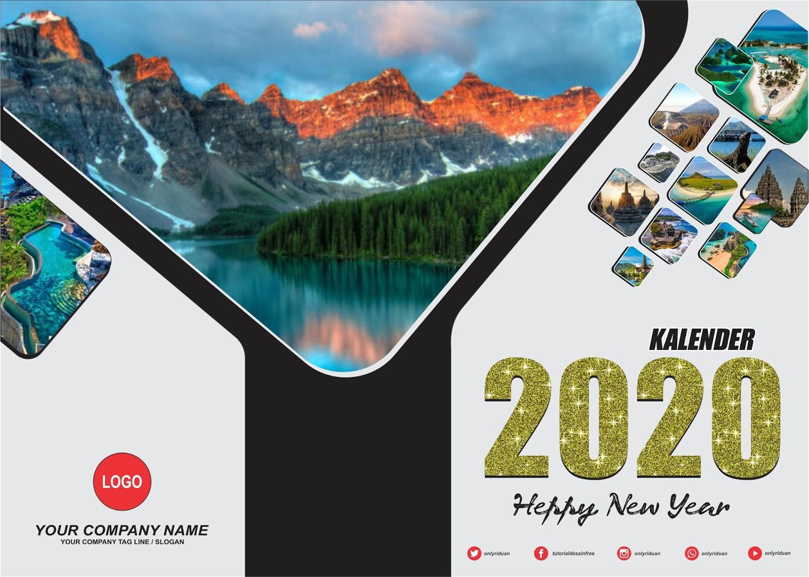 Desain Kalender Duduk 2020 dengan CorelDraw - TUTORiduan.com