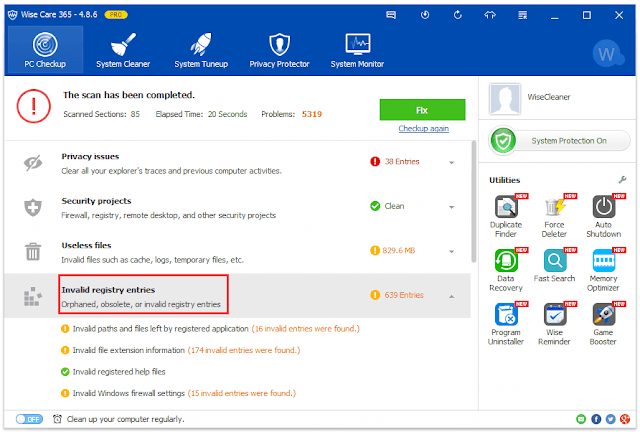 تحميل برنامج Wise Care 365 لتسريع جهاز الكمبيوتر عربي مجانا