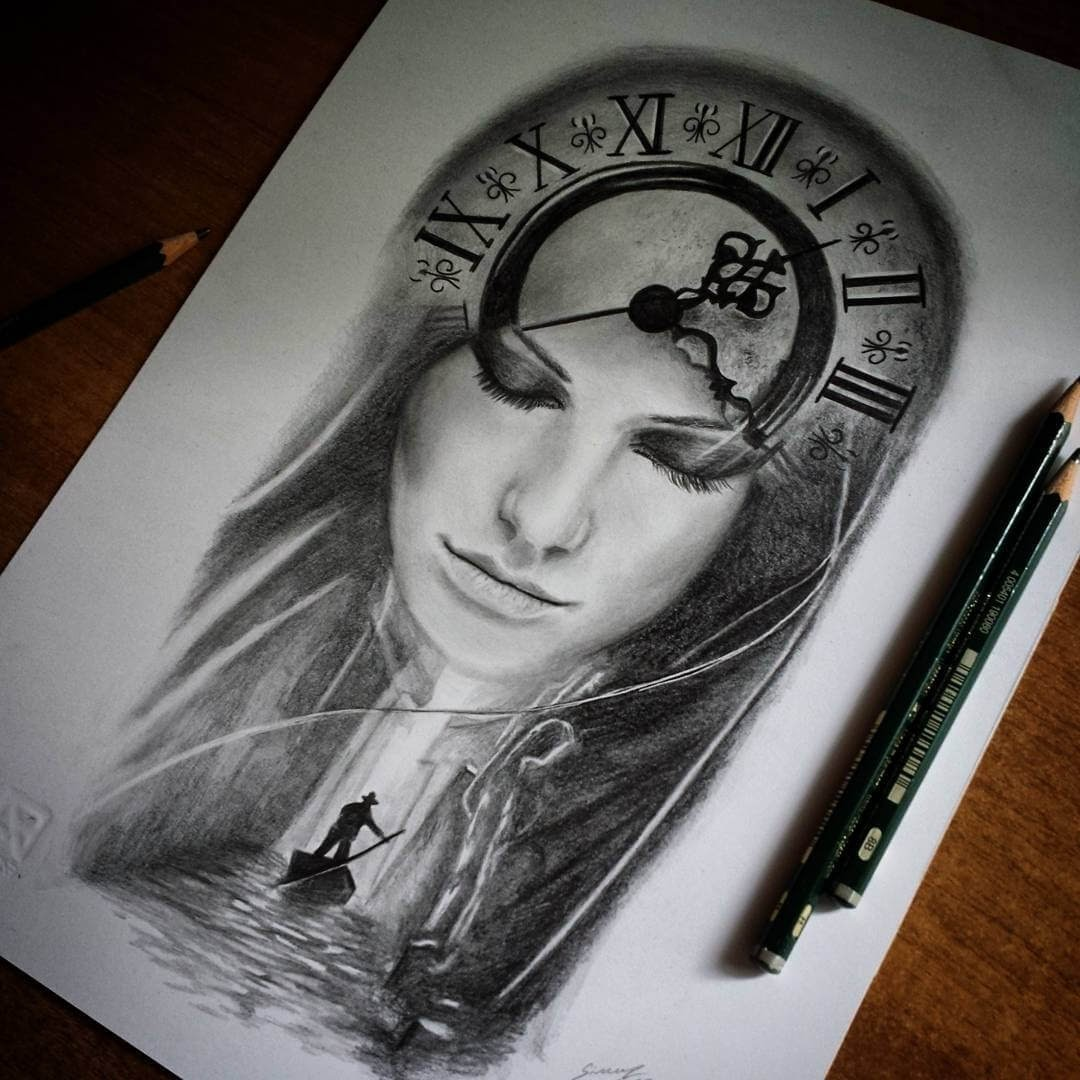 08-Lady-time-Simone-Mulas-Realistic-Portraits-in-Different-Styles-www-designstack-co
