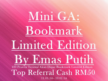 Mini GA Bookmark Limited Edition By Emas Putih