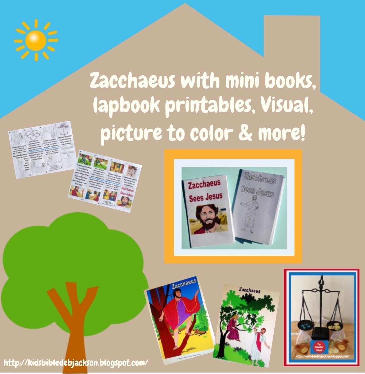 Bible Fun For Kids Jesus With Zacchaeus Preschool Projects