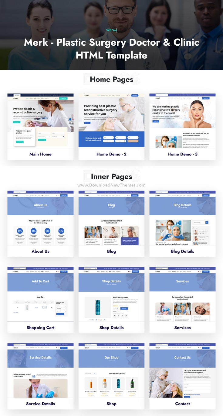 Cosmetic and Plastic Surgery Bootstrap Template