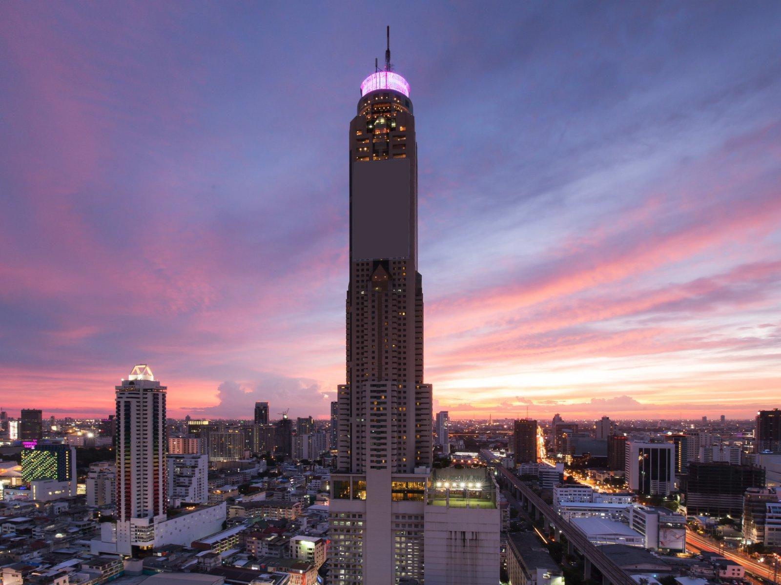 Image result for Tòa Nhà 86 tầng Baiyoke Skye (cao nhất thủ đô Bangkok)