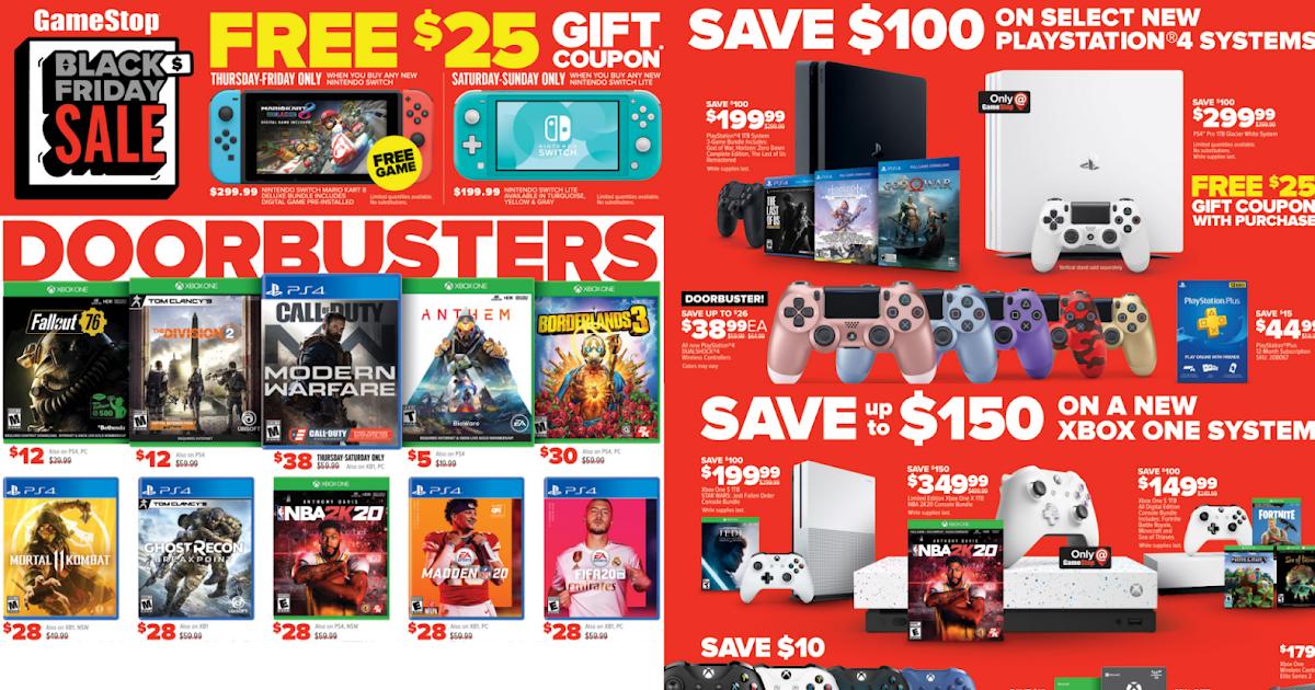 Gamestop Black Friday Doorbusters Live Online Now