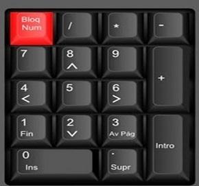 esta tecla activa y desactiva los números del lado derecho de nuestro teclado