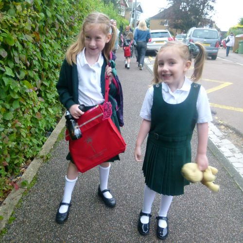 Stephs two girls going to school